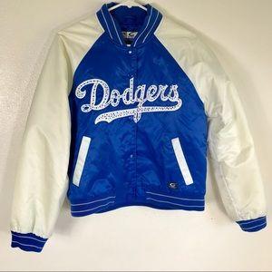 Dodgers Bomber Rhinestone Jacket Size Medium RARE
